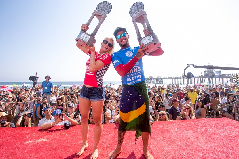 2845b2e0e1 Tatiana Weston-Webb and Filipe Toledo Win Vans US Open of Surfing ...